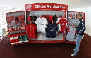 Rapid Retail - Arsenal FC - Portable Merchandise Unit