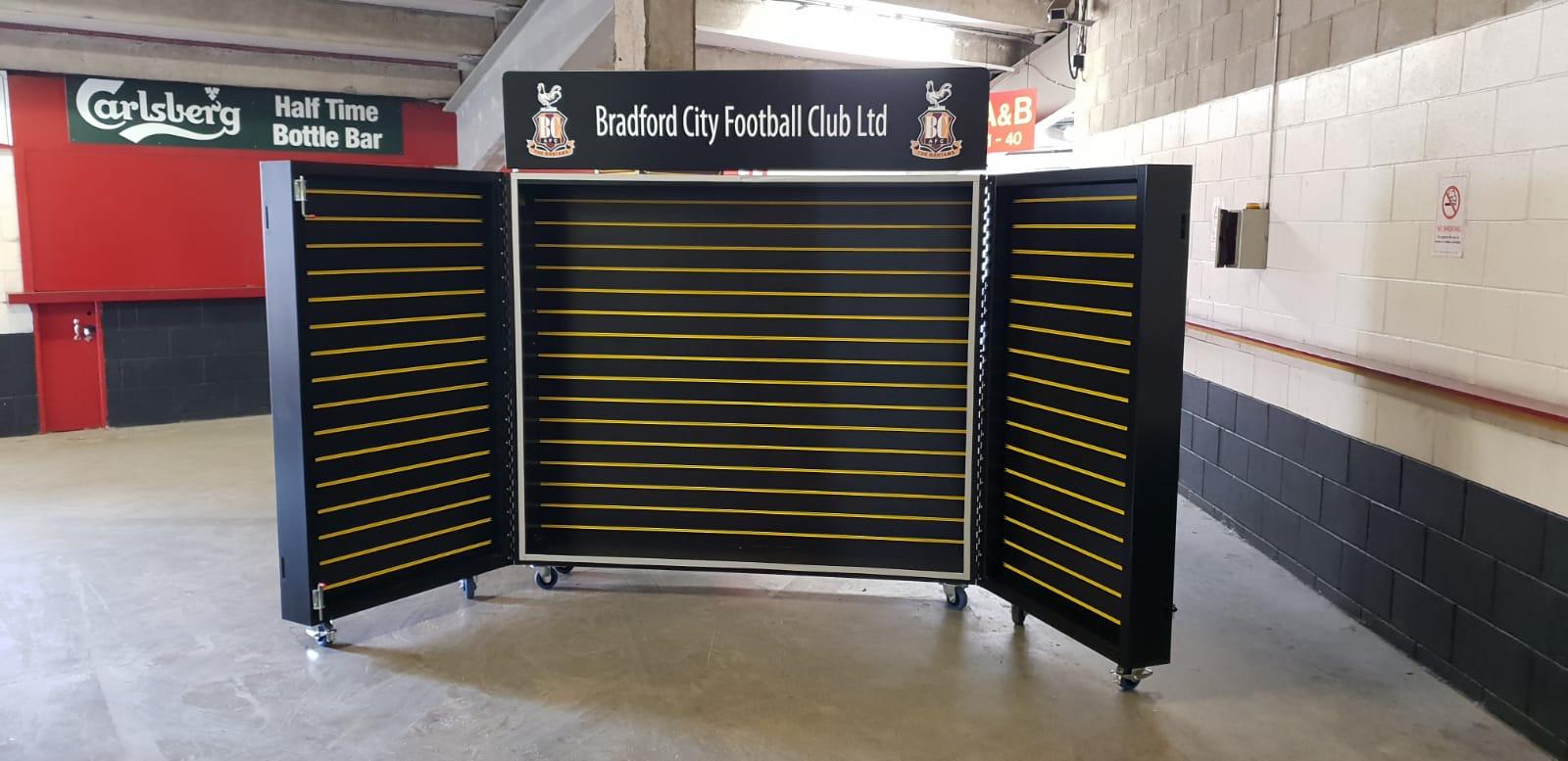 Bradford City FC merchandise display unit