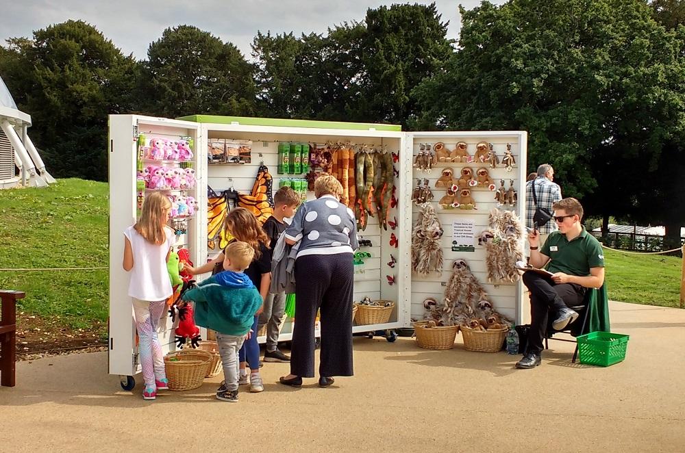 Marwell Zoo mobile merchandise display unit